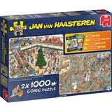 Jumbo Jan van Haasteren - Holiday shopping puzzels 2x 1000 stukjes