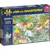 Jumbo Jan van Haasteren - Kamperen in het bos puzzel 2000 stukjes