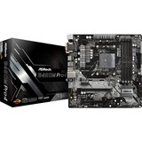 ASRock B450M-Pro4, socket AM4 moederbord RAID, Gb-LAN, Sound, µATX