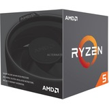 AMD Ryzen 5 2600, 3,4 GHz (3,9 GHz Turbo Boost) socket AM4 processor Wraith Stealth cooler, Boxed
