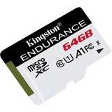 Kingston High Endurance 64 GB microSDXC geheugenkaart Wit/zwart, UHS-I (U1), Class 10