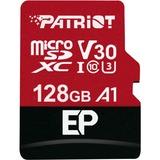 Patriot EP Series A1 microSDXC 128 GB geheugenkaart Zwart/rood, Class 10, U3, Incl. SD Adapter