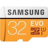 Samsung EVO microSD 32GB geheugenkaart Wit/oranje, MB-MP32GA/EU, Class10, incl. adapter