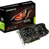 GIGABYTE GeForce GTX 1050 Ti Windforce OC 4G grafische kaart DVI, 3x HDMI, DisplayPort