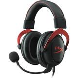 HyperX Cloud II Red, 7.1 virtual surround headset Zwart/rood, HyperX, 53mm, Gaming, 7.1, 3.5mm/USB