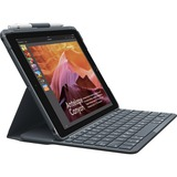 Logitech Slim folio met geïntegreerd Bluetooth-toetsenbord voor iPad (5e en 6e generatie) sleeve Zwart