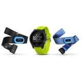 Garmin Forerunner 935 GPS-horloge Triathlonbundel fitnesstracker Zwart/geel, Wi-Fi, Bluetooth, ANT+
