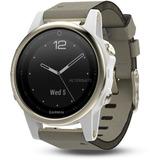 Garmin fēnix 5S smartwatch Goud/grijs, Sapphire, 42mm, Bluetooth Smart, ANT+, Wi-Fi