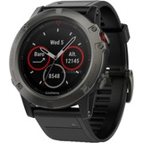 Garmin fēnix 5X smartwatch Zwart/grijs, Sapphire, 51mm, Bluetooth Smart, ANT+, Wi-Fi, TOPO-kaarten