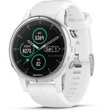 Garmin fenix 5S Plus Sapphire - wit met witte band smartwatch Wit/wit, 42 mm