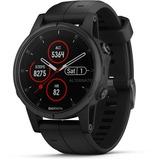 Garmin fenix 5S Plus Sapphire - zwart met zwarte band smartwatch Zwart, 42 mm