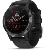 Garmin fenix 5 Plus Sapphire - zwart met zwarte band smartwatch Zwart, 47 mm