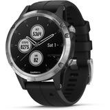 Garmin fenix 5 Plus - zilver met zwarte band smartwatch Zilver/zwart, 47 mm