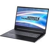 "ALTERNATE Thunderstorm GTX1650-i7-512GBSSD-8GB gaming laptop, 17.3""  laptop Zwart, 512 GB SSD, GTX 1650, WLAN, BT, Windows 10"
