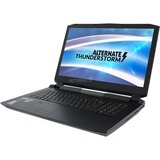 "ALTERNATE Thunderstorm RTX2070-i7-1TBSSD-16GB gaming laptop, 17.3""  laptop Zwart, 1 TB SSD, 2 TB HDD, RTX 2070, WLAN, BT, Windows 10"