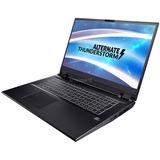 "ALTERNATE Thunderstorm RTX2070-i9-1TBSSD-16G gaming laptop, 17.3""  laptop Zwart, 1 TB SSD, 2TB, RTX 2070, Win 10"