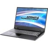 "ALTERNATE Thunderstorm RTX2070-i9-2TBSSD-32GB gaming laptop, 17.3""  laptop Zwart, 2 TB SSD, RTX 2070, WLAN, Windows 10"
