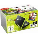 Nintendo New 2DS XL spelconsole Zwart/groen, Incl. Mario Kart 7