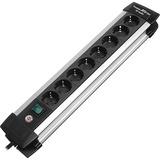 Brennenstuhl Premium-Alu-Line 8x stekkerdoos Zwart/zilver, 1391000018, voor 8 stekkers