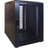 DSI 15U mini serverkast met geperforeerde deur - DS6815PP server rack Zwart, 600 x 800 x 770mm