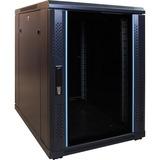 DSI 15U mini serverkast met glazen deur - DS6815 server rack Zwart, 600 x 800 x 770mm