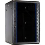 DSI 18U wandkast met glazen deur - DS6618-WAND server rack Zwart, 600 x 600 x 900mm