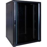 DSI 22U serverkast met glazen deur - DS8822 server rack Zwart, 800 x 1000 x 1200mm