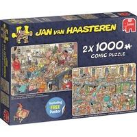 Jumbo Jan van Haasteren - Fijne Feestdagen puzzels 2x 1000 stukjes + poster