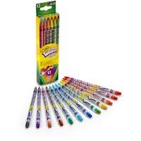 Crayola 12 Draaikleurpotloden met gum tekenen