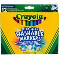 Crayola 12 Ultraclean Afwasbare Viltstiften met kegelpunt