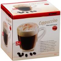 Scanpart Cappuccino kop en schotel glas 2 stuks