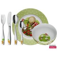 WMF Kinderservies- en bestekset 6-delig, Pitzelpatz Groen/wit