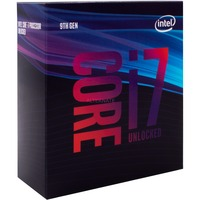 "Intel® Core i7-9700K, 3.6 GHz (4.9 GHz Turbo Boost) socket 1151 processor ""Coffee Lake-R"", Unlocked, WoF, Boxed"