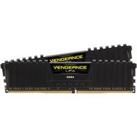 Corsair 16 GB DDR4-3000 Kit werkgeheugen Zwart, CMK16GX4M2B3000C15, Vengeance LPX, XMP
