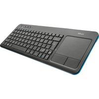 Trust Veza wireless touchpad keyboard Zwart, 20960