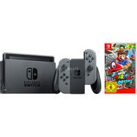 Nintendo Switch + Super Mario Odyssey spelconsole Grijs