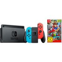 Nintendo Switch + Super Mario Odyssey spelconsole Neon rood/neon blauw