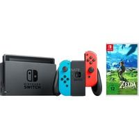 Nintendo Switch + Zelda Breath of the Wild spelconsole Neon rood/neon blauw