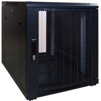 DSI 12U mini serverkast met geperforeerde deur DS6812PP server rack Zwart, 600 x 800 x 635mm
