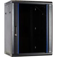 DSI 15U wandkast met glazen deur - DS6615 server rack Zwart, 600 x 600 x 770mm
