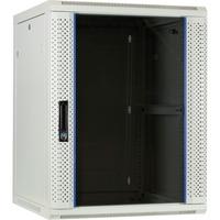 DSI 15U witte wandkast met glazen deur - DS6615W server rack Wit, 600 x 600 x 770mm
