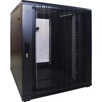DSI 18U serverkast met geperforeerde deur - DS8018PP server rack Zwart, 800 x 1000 x 1000mm