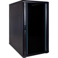 DSI 22U serverkast met glazen deur - DS6022 server rack Zwart, 600 x 1000 x 1200mm