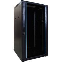 DSI 22U serverkast met glazen deur - DS6622 server rack Zwart, 600 x 600 x 1200mm