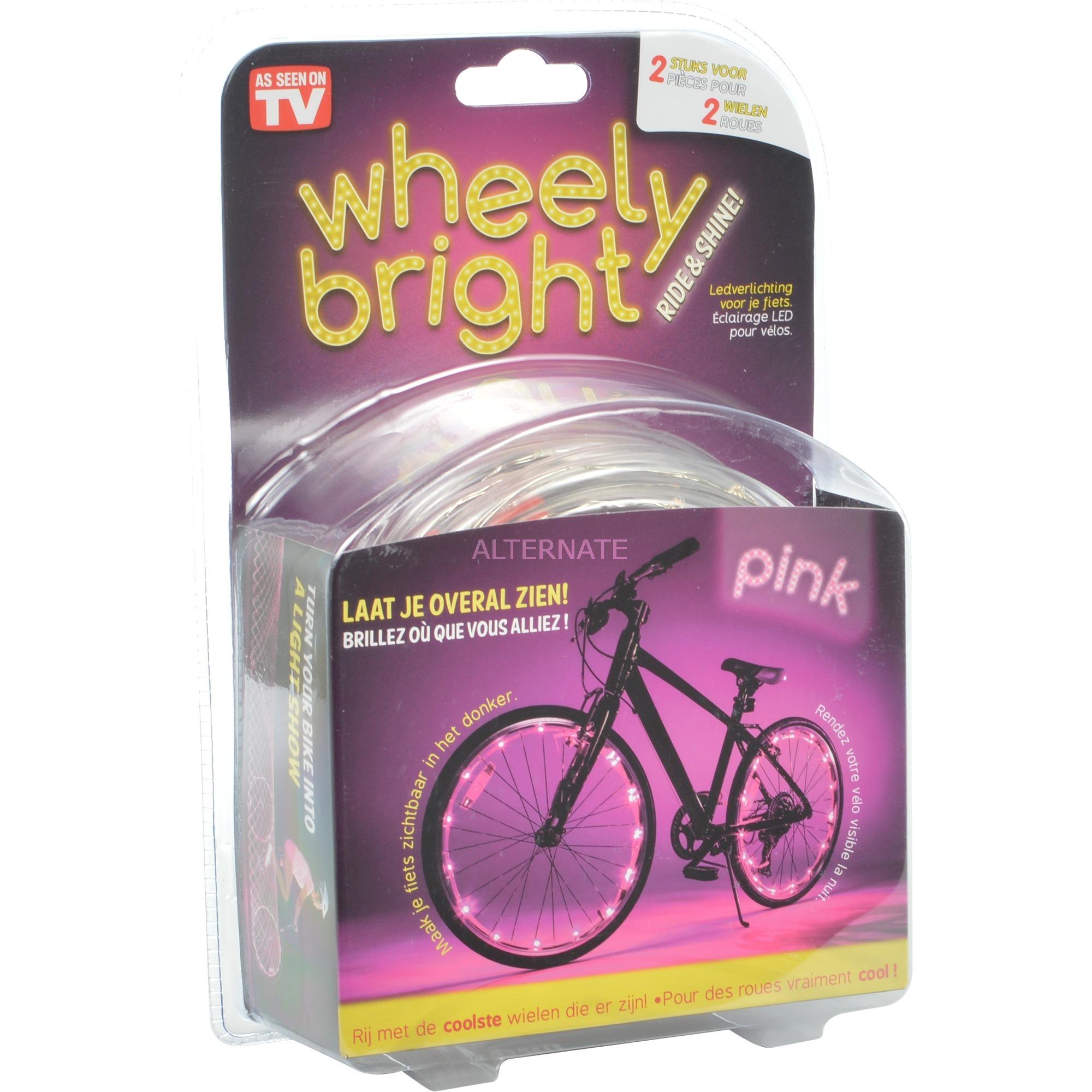 JML Wheely bright roze, 2 stuks verlichting Roze