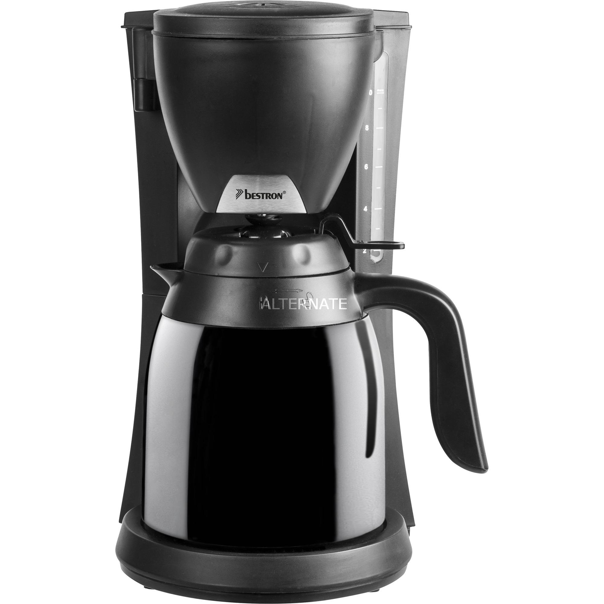 Nieuw Bestron ACM730TD Koffiezetter met 2 thermokannen koffieapparaat Zwart YU-67
