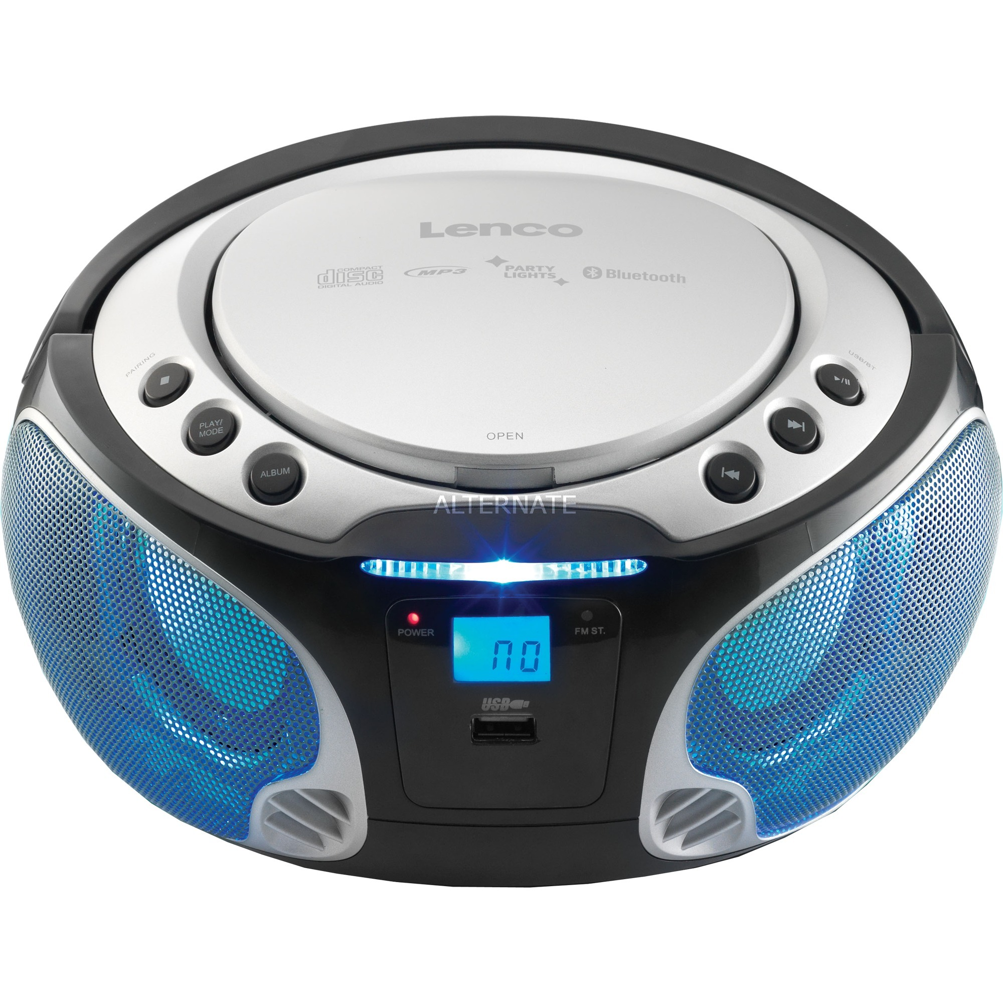 Nieuw Lenco Radio CD/MP3 speler SCD-550 compact systeem Zilver, Bluetooth AK-06