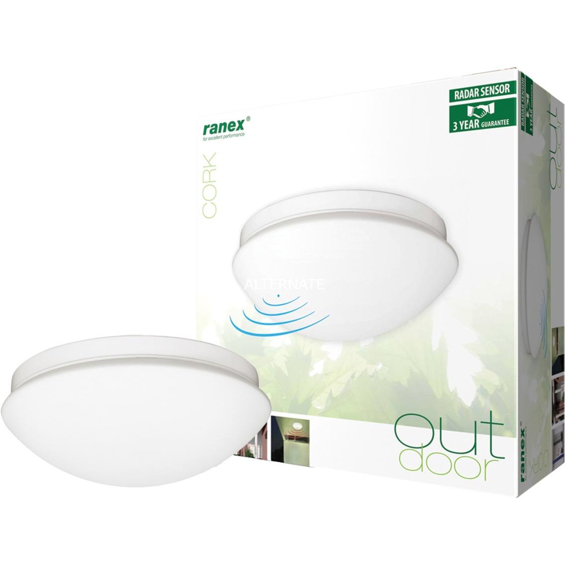 Ranex Plafonniere voor binnen/buiten met bewegingsmelder verlichting Wit